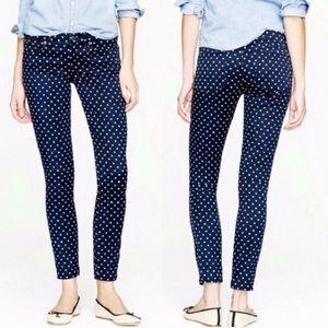 J. Crew | Toothpick Polka Dot Skinny Jeans